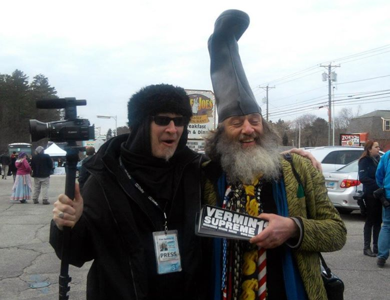 with President Vermin Supreme New Hampshire 2008
