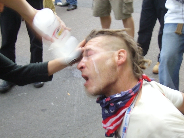 Pepper sprayed at the RNC 2008