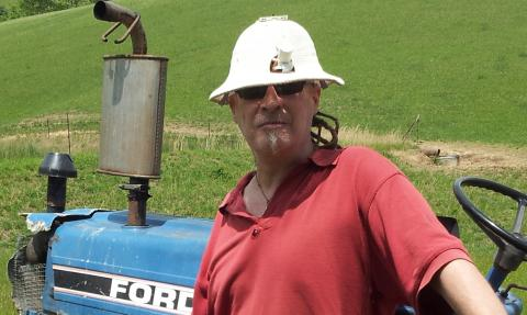Farmer Flux in a Vintage Solar Powered Hat