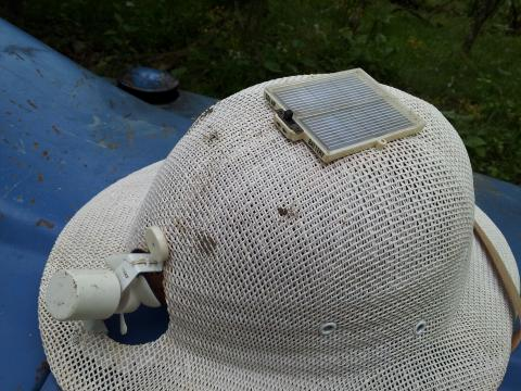 vintage solar powered hat