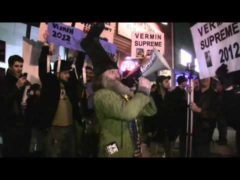 Embedded thumbnail for Vermin Supreme Thwarts Newt, Romney, & Paul Stump Speeches in 1 day