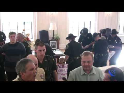 Embedded thumbnail for Citizens Arrested in Governor Joe Manchin's Office