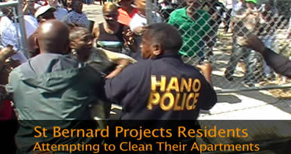 St. Bernard Housing Projects Residents Attempting to Clean Their Apartments
